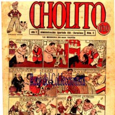 Tebeos - CHOLITO Nº 9 LA MEDICINA DE DON TRIFON. AÑO 1920. PORTADA ILUSTRADA POR OPISSO - 30319919