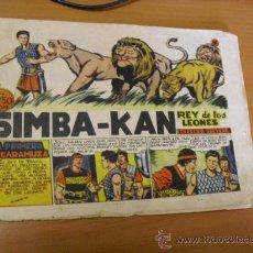 Tebeos: SIMBA-KAN Nº 26, DE MARCO 1959. Lote 30817579