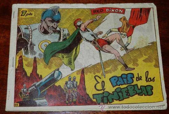 RED DIXON, 1ª EPOCA, Nº 15, EL PAIS DE LAS TINIEBLAS, TAL COMO SE VE EN LAS FOTOS PUESTAS. (Tebeos y Comics - Marco - Red Dixon)