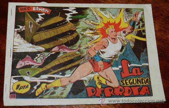 RED DIXON, 1ª EPOCA, Nº 39, LA SEGUNDA DERROTA, TAL COMO SE VE EN LAS FOTOS PUESTAS. (Tebeos y Comics - Marco - Red Dixon)