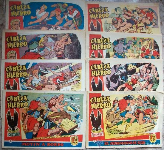 CABEZA DE HIERRO (MARCO) (LOTE DE 8 NUMEROS) (Tebeos y Comics - Marco - Otros)