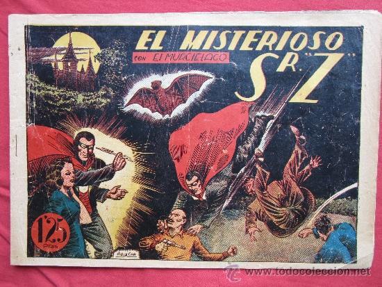 EL MURCIELAGO , NUMERO 3 , EL MISTERIOSO SR Z - BOIXCAR , EDITORIAL MARCO 1943 (Tebeos y Comics - Marco - Otros)