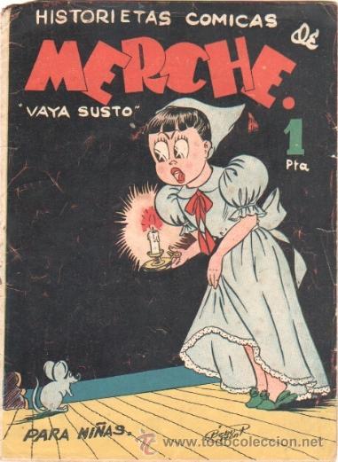 HISTORIETAS COMICAS DE MERCHE Nº 43 EDI MARCO 1950,DIBUJO BEAUMONT,JULIO VIVAS ,J.RIZO ETC, ORIGINAL (Tebeos y Comics - Marco - Otros)