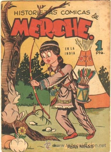 HISTORIETAS COMICAS DE MERCHE Nº 46 EDI MARCO 1950,DIBUJO BEAUMONT,JULIO VIVAS ,J.RIZO ETC, ORIGINAL (Tebeos y Comics - Marco - Otros)