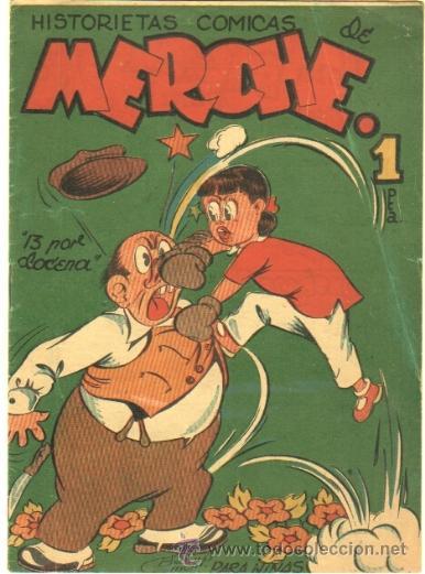 HISTORIETAS COMICAS DE MERCHE Nº 45 EDI MARCO 1950,DIBUJO BEAUMONT,JULIO VIVAS ,J.RIZO ETC, ORIGINAL (Tebeos y Comics - Marco - Otros)