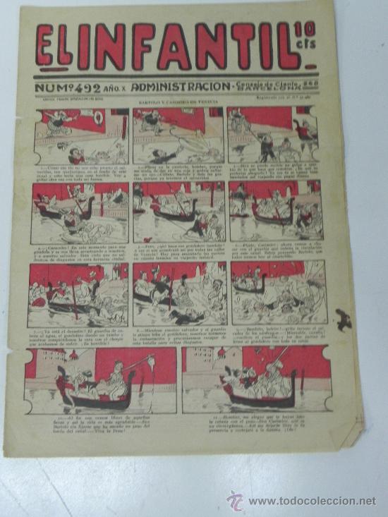 EL INFANTIL Nº 492, MUY RARO, ED. MARCO, POSIBLEMENTE AÑOS 20 (Tebeos y Comics - Marco - Otros)