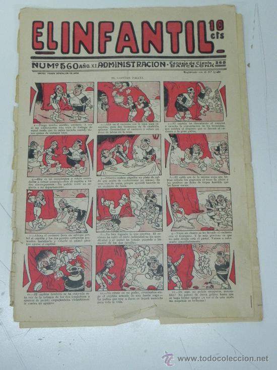 EL INFANTIL Nº 560, MUY RARO, ED. MARCO, POSIBLEMENTE AÑOS 20 (Tebeos y Comics - Marco - Otros)
