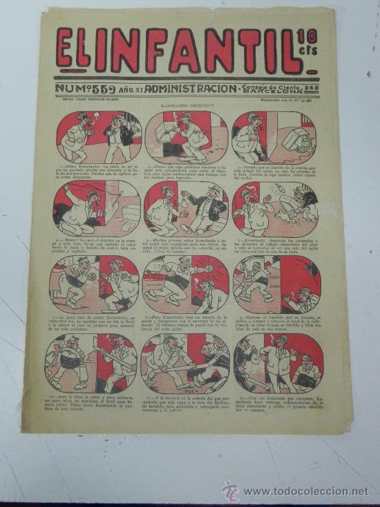 EL INFANTIL Nº 559, MUY RARO, ED. MARCO, POSIBLEMENTE AÑOS 20 (Tebeos y Comics - Marco - Otros)