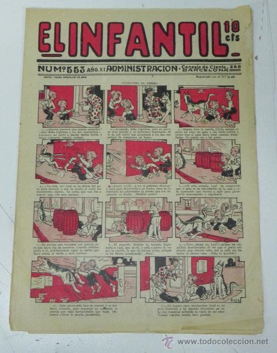EL INFANTIL Nº 553, MUY RARO, ED. MARCO, POSIBLEMENTE AÑOS 20 (Tebeos y Comics - Marco - Otros)