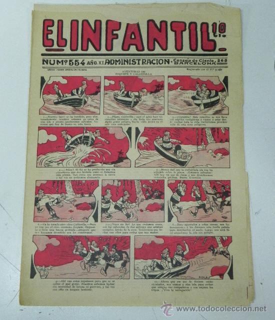 EL INFANTIL Nº 554, MUY RARO, ED. MARCO, POSIBLEMENTE AÑOS 20 (Tebeos y Comics - Marco - Otros)