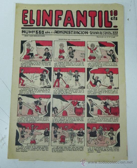 EL INFANTIL Nº 552, MUY RARO, ED. MARCO, POSIBLEMENTE AÑOS 20 (Tebeos y Comics - Marco - Otros)