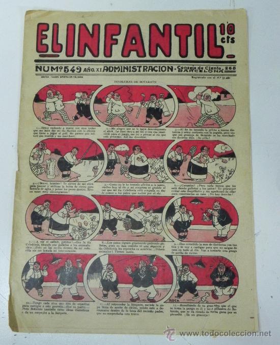 EL INFANTIL Nº 549, MUY RARO, ED. MARCO, POSIBLEMENTE AÑOS 20 (Tebeos y Comics - Marco - Otros)