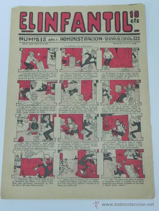 EL INFANTIL Nº 513, MUY RARO, ED. MARCO, POSIBLEMENTE AÑOS 20. (Tebeos y Comics - Marco - Otros)