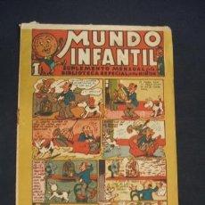 Tebeos: MUNDO INFANTIL - SUPLEMENTO MENSUAL DE LA BIBLIOTECA ESPECIAL PARA NIÑOS - 1 PESETA - EDIT. MARCO - . Lote 36570951