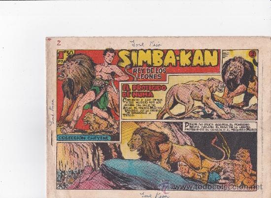 SIMBA KAN REY DE LEONES 1959 ,FALTA EL Nº 1 Y EL 48 (Tebeos y Comics - Marco - Otros)