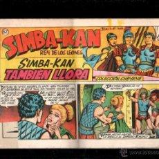 Tebeos: SIMBA-KAN. COLECCION CHEYENE. TAMBIEN LLORA. Nº 52. ORIGINAL. 1959. EL DE LA FOTO. Lote 39484130