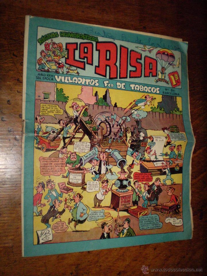 LA RISA - SEGUNDA EPOCA - Nº 34 - VILLAPITOS FCA DE TABACOS - EDITORIAL MARCO - (Tebeos y Comics - Marco - La Risa)