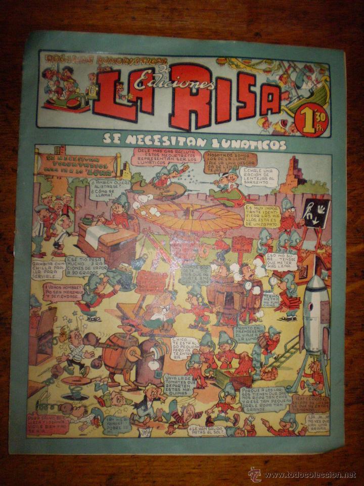LA RISA - Nº 6 - SE NECESITAN LUNÁTICOS - EDITORIAL MARCO - (Tebeos y Comics - Marco - La Risa)