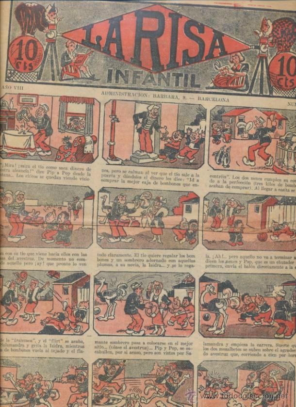 LA RISA INFANTIL Nº 371. EDITORIAL MARCO 1925. (Tebeos y Comics - Marco - La Risa)