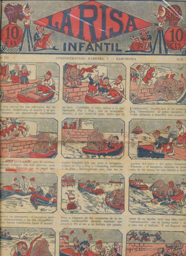 LA RISA INFANTIL Nº 363. EDITORIAL MARCO 1925. (Tebeos y Comics - Marco - La Risa)