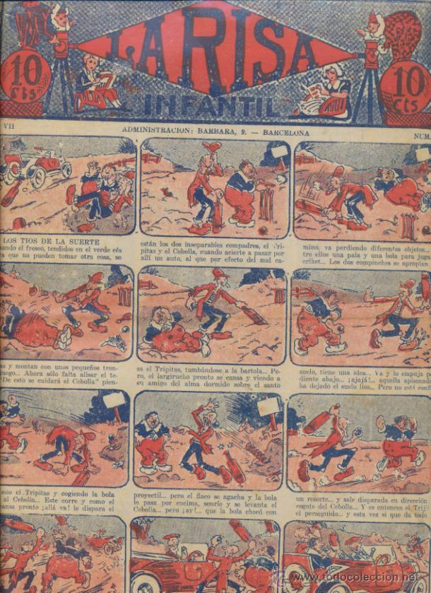 LA RISA INFANTIL Nº 347. EDITORIAL MARCO 1925. (Tebeos y Comics - Marco - La Risa)