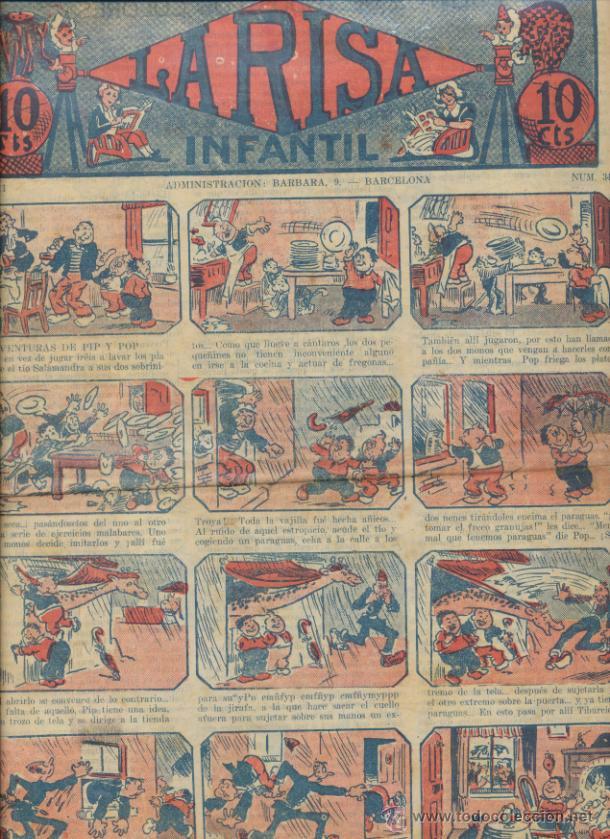 LA RISA INFANTIL Nº 345. EDITORIAL MARCO 1925. (Tebeos y Comics - Marco - La Risa)
