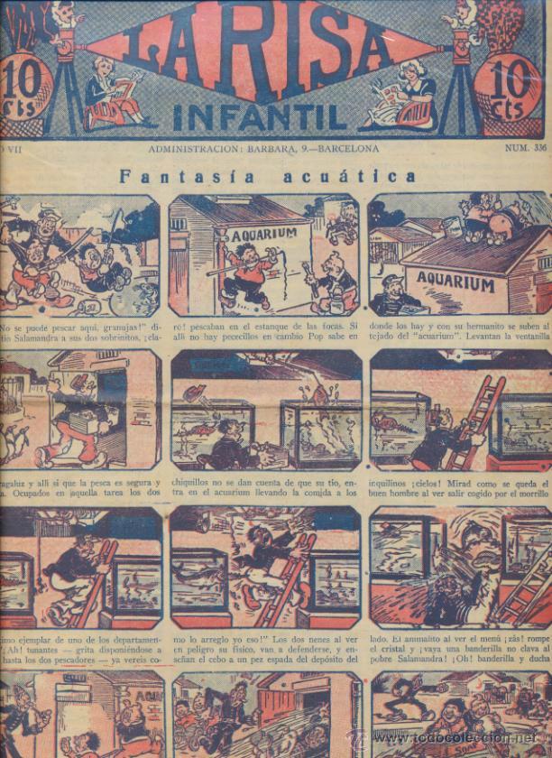 LA RISA INFANTIL Nº 336. EDITORIAL MARCO 1925. (Tebeos y Comics - Marco - La Risa)