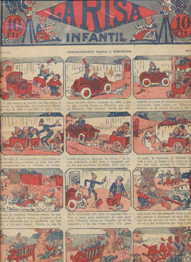 LA RISA INFANTIL Nº 420. EDITORIAL MARCO 1925. (Tebeos y Comics - Marco - La Risa)
