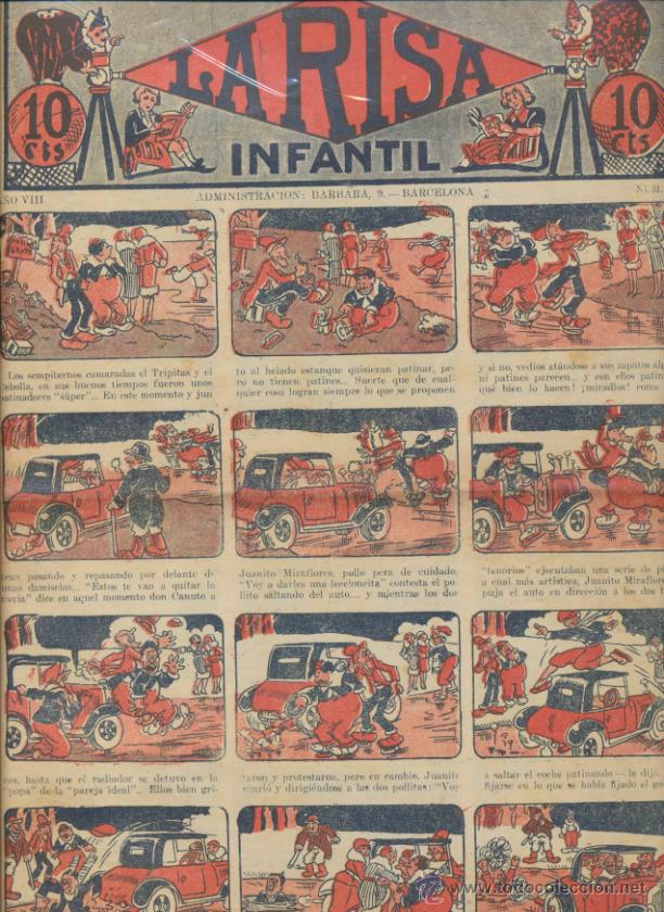 LA RISA INFANTIL Nº 378. EDITORIAL MARCO 1925. (Tebeos y Comics - Marco - La Risa)