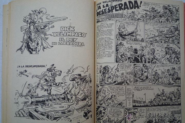 Tebeos: COM-155. DICK RELAMPAGO. EL REY DE LA PRADERA.DIB. G. IRANZO. COL. COMPLETA 1 TOMO. MARCO EDICS.1982 - Foto 3 - 44013661