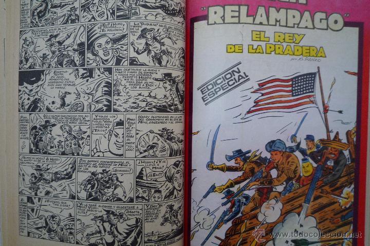 Tebeos: COM-155. DICK RELAMPAGO. EL REY DE LA PRADERA.DIB. G. IRANZO. COL. COMPLETA 1 TOMO. MARCO EDICS.1982 - Foto 4 - 44013661