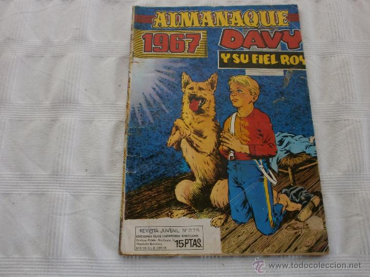 DAVY Y SU FIEL ROY ALMANAQUE 1967 ORIGINAL MARCO (Tebeos y Comics - Marco - Otros)