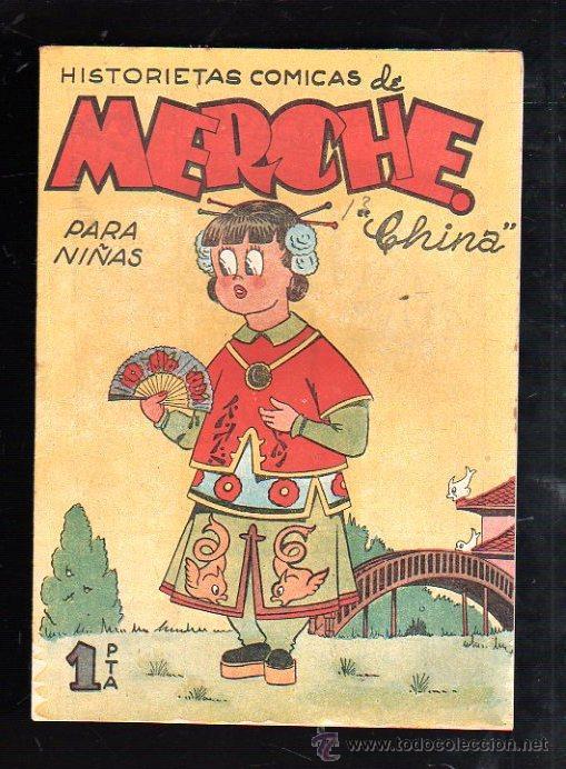 HISTORIETAS COMICAS PARA NIÑAS DE MERCHE. Nº 37. CHINA. BARCELONA (Tebeos y Comics - Marco - Otros)