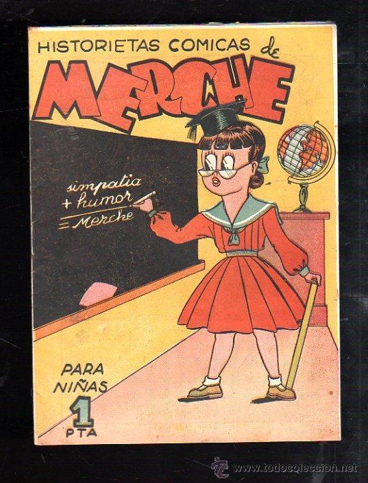 HISTORIETAS COMICAS PARA NIÑAS DE MERCHE. Nº 35. SIMPATICA + HUMOR = MERCHE. BARCELONA (Tebeos y Comics - Marco - Otros)