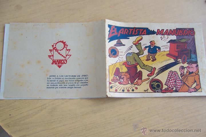 MARCO COLECCION PIPA , CON CARTAPACIO Y SEGUILLA EN EL ARTISTA DEL MANUBRIO DE 30 CTS. (Tebeos y Comics - Marco - Otros)
