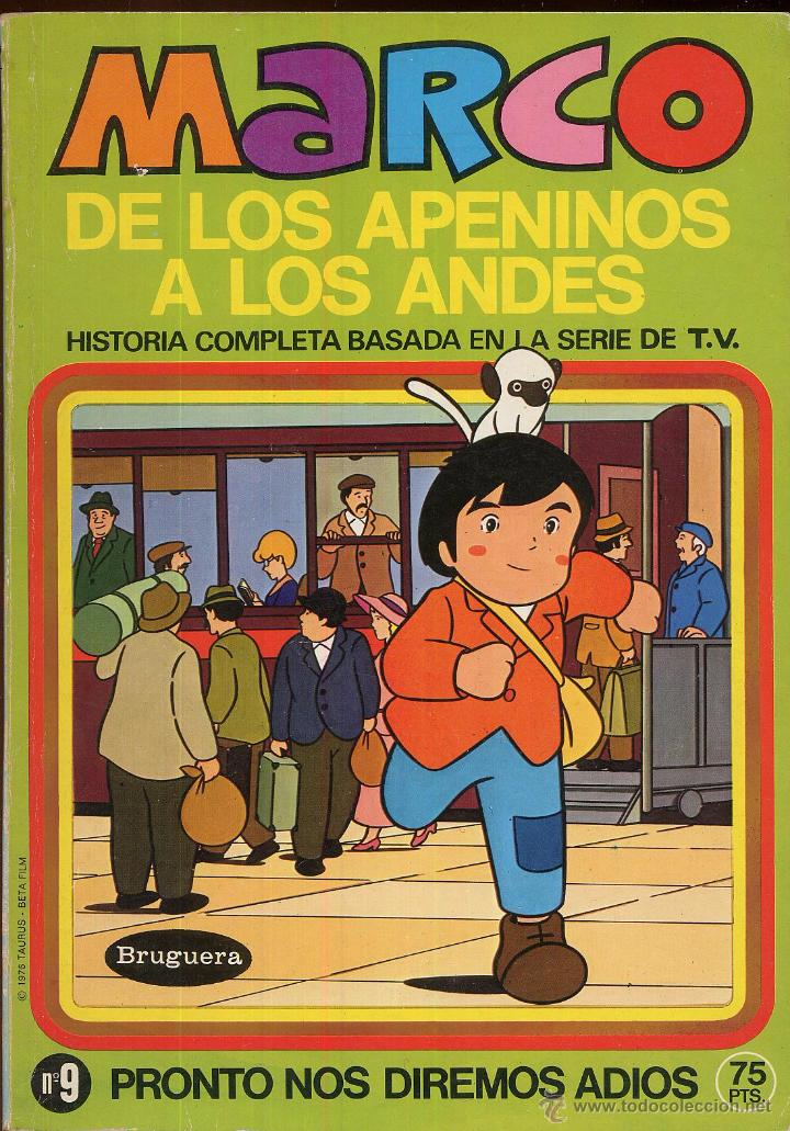 MARCO DE LOS APENINOS A LOS ANDES NUMERO 9 PRONTO NOS DIREMOS ADIOS AÑO 1976 -------(REF M1 E1) (Tebeos y Comics - Marco - Otros)