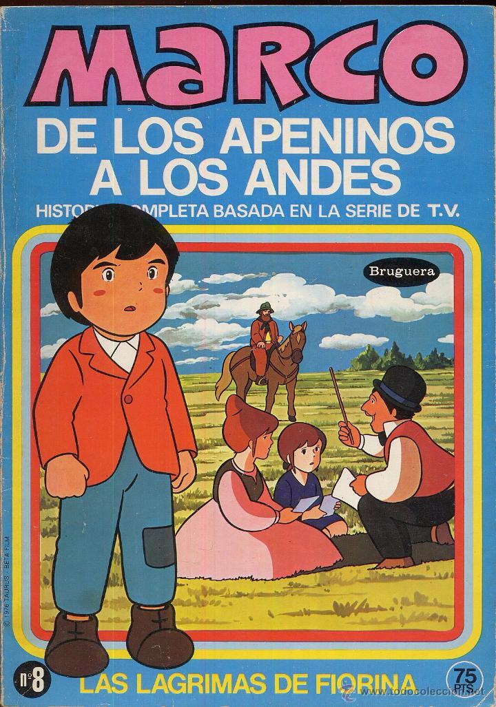 MARCO DE LOS APENINOS A LOS ANDES NUMERO 8 LAS LAGRIMAS DE FIORINA AÑO 1976 --------(REF M1 E1) (Tebeos y Comics - Marco - Otros)
