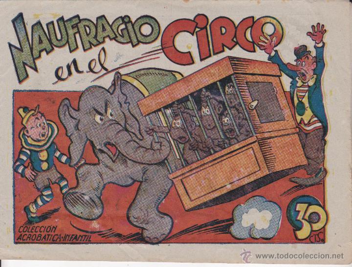 COMIC COLECCION ACROBATICA INFANTIL NAUFRAGIO EN EL CIRCO (Tebeos y Comics - Marco - Acrobática Infantil)