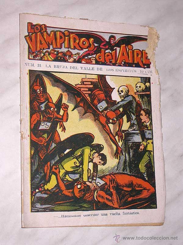 LOS VAMPIROS DEL AIRE 31. BRUJA DEL VALLE DE LOS ESPÍRITUS. CANELLAS CASALS, MARC FARELL. ED. MARCO. (Tebeos y Comics - Marco - Otros)