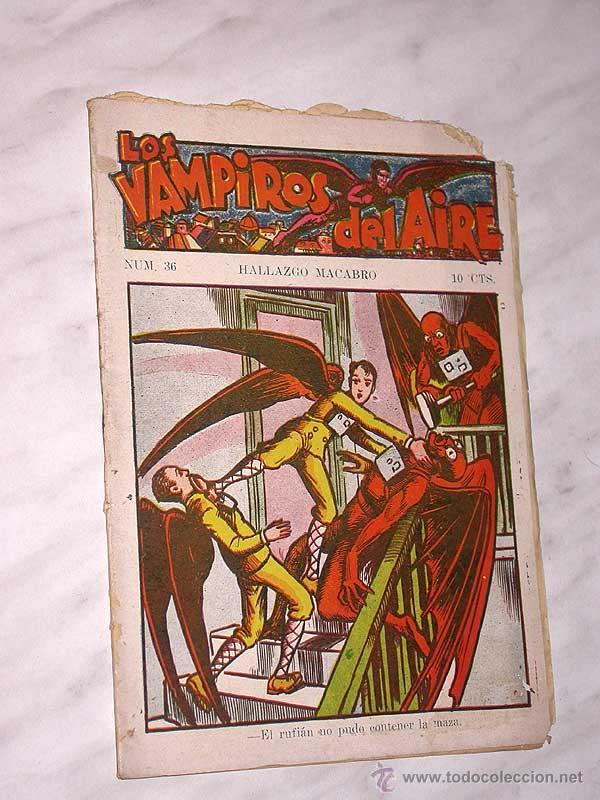 LOS VAMPIROS DEL AIRE Nº 36. HALLAZGO MACABRO. CANELLAS CASALS, MARC FARELL. EDITORIAL MARCO. ++ (Tebeos y Comics - Marco - Otros)