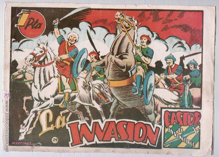 CASTOR EL INVENCIBLE Nº 29. EDITORIAL MARCO 1951. (Tebeos y Comics - Marco - Castor el Invencible)