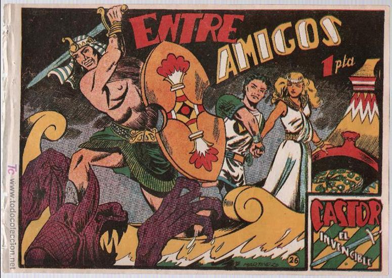 CASTOR EL INVENCIBLE Nº 26. EDITORIAL MARCO 1951. (Tebeos y Comics - Marco - Castor el Invencible)