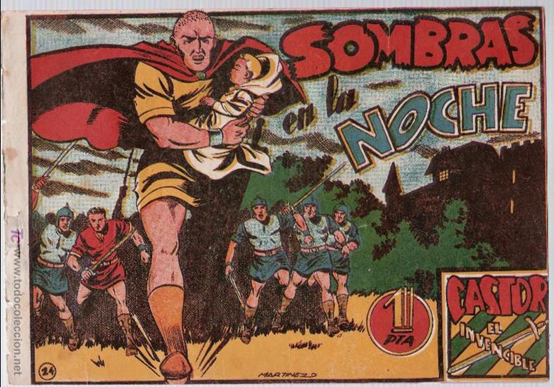 CASTOR EL INVENCIBLE Nº 24. EDITORIAL MARCO 1951. (Tebeos y Comics - Marco - Castor el Invencible)
