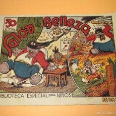 Tebeos: ANTIGUO CUADERNILLO BIBLIOTECA ESPECIAL PARA NIÑOS, SALON DE BELLEZA, HIPO, GRAFICAS MARCO, 1940S.. Lote 57353622