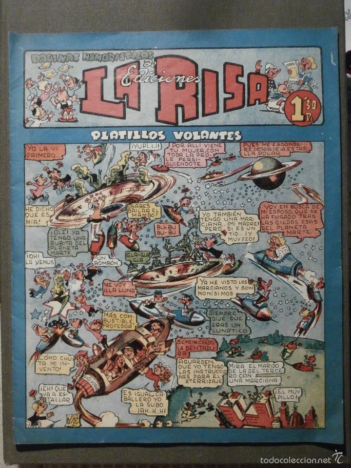 LA RISA - Nº 10 - PLATILLOS VOLANTES - EDITORIAL MARCO - MUY BUEN ESTADO - 1,30 PTS. (Tebeos y Comics - Marco - La Risa)