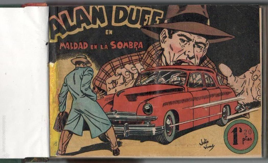 ALAN DUFF ORIGINAL COMPLETA 1 AL 30 EDI. MARCO 1952 DIBUJOS JULIO VIVAS, MUY BIEN CONSERVADOS, VER I (Tebeos y Comics - Marco - Otros)