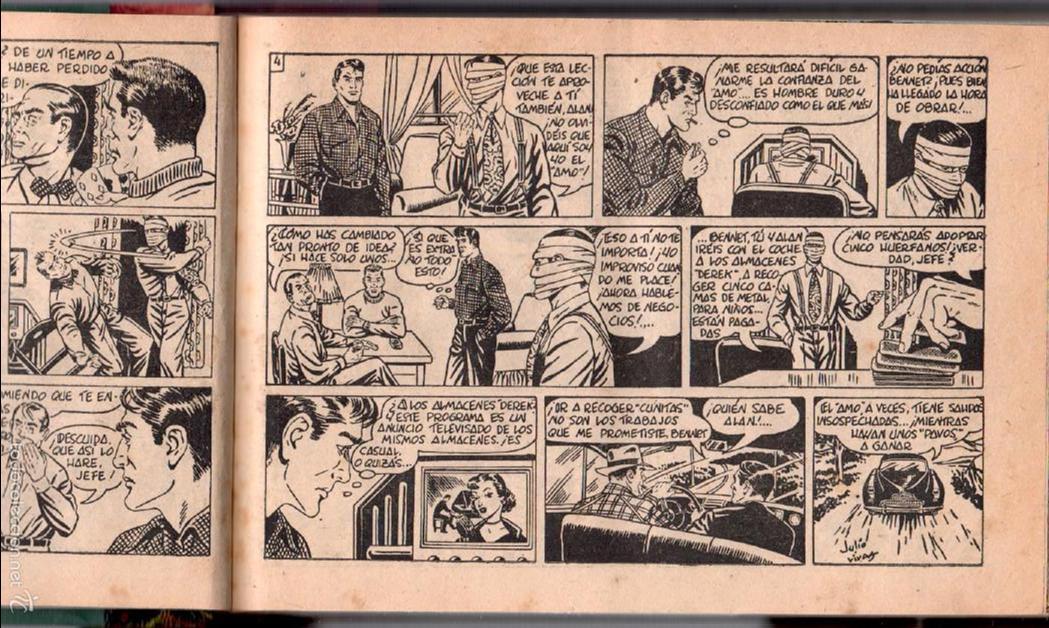 Tebeos: ALAN DUFF ORIGINAL COMPLETA 1 AL 30 EDI. MARCO 1952 DIBUJOS JULIO VIVAS, MUY BIEN CONSERVADOS, VER I - Foto 8 - 61220411