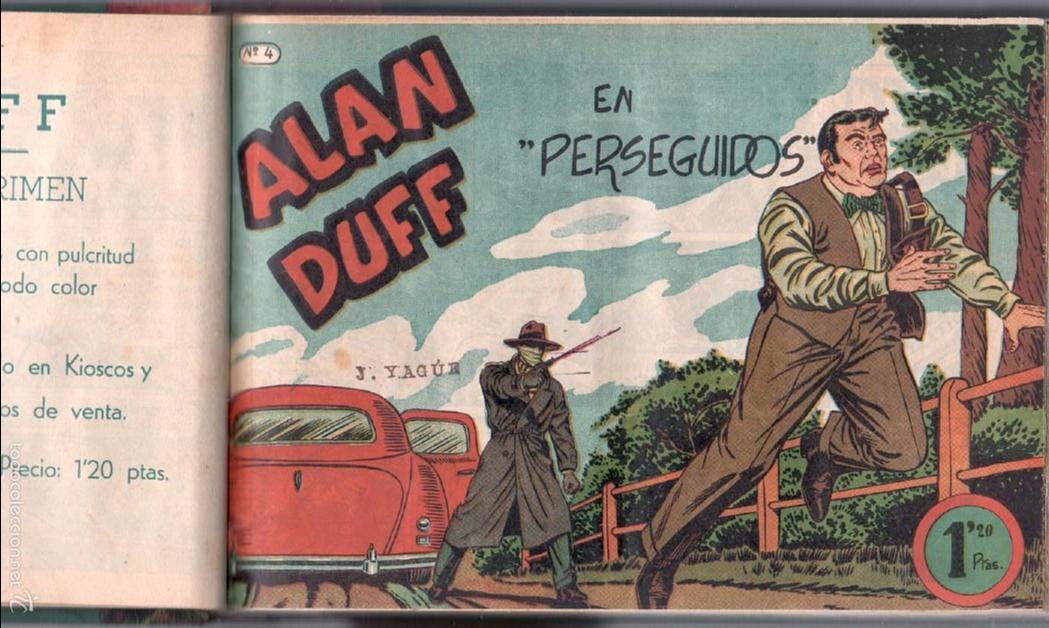 Tebeos: ALAN DUFF ORIGINAL COMPLETA 1 AL 30 EDI. MARCO 1952 DIBUJOS JULIO VIVAS, MUY BIEN CONSERVADOS, VER I - Foto 9 - 61220411