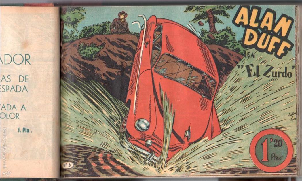 Tebeos: ALAN DUFF ORIGINAL COMPLETA 1 AL 30 EDI. MARCO 1952 DIBUJOS JULIO VIVAS, MUY BIEN CONSERVADOS, VER I - Foto 11 - 61220411