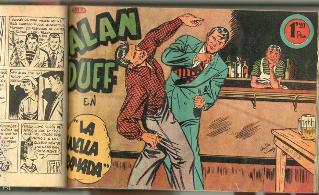 Tebeos: ALAN DUFF ORIGINAL COMPLETA 1 AL 30 EDI. MARCO 1952 DIBUJOS JULIO VIVAS, MUY BIEN CONSERVADOS, VER I - Foto 16 - 61220411